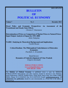 Bulletin of Political Economy